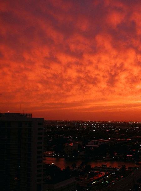 Sunset Sundown Vacation Urban Travel Sky Blue City