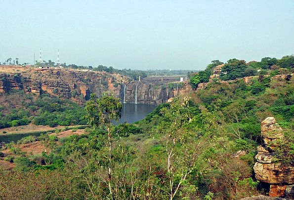 Gokak Falls Cascade Weak Summer Flow Waterfall Gha