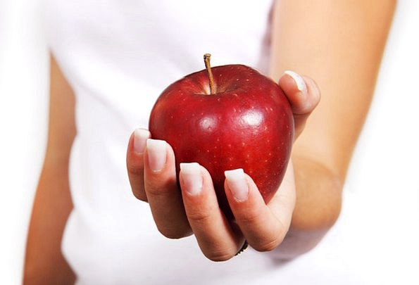 Apple Drink Food Female Feminine Diet Palm Food No