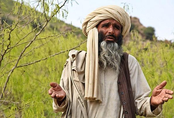 Turban Gentleman Praying Requesting Man Explaining