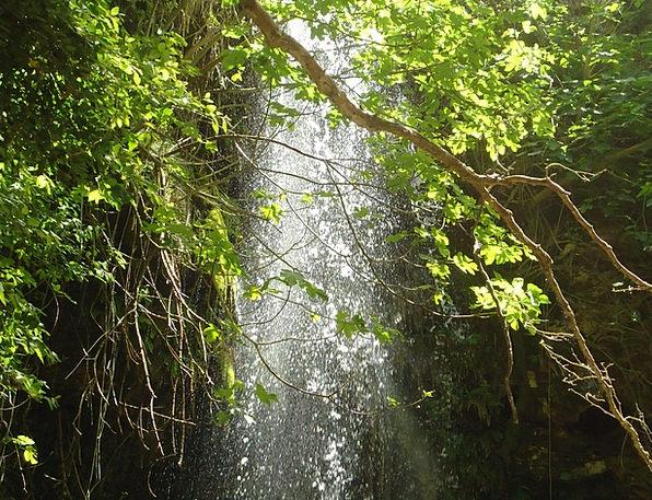 Waterfall Cascade Landscapes Rough Nature Green Li