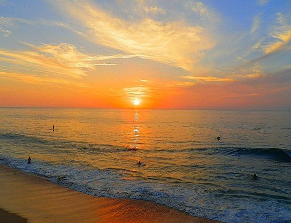 California Sunset Pacific Ocean Beach Sunset Twili