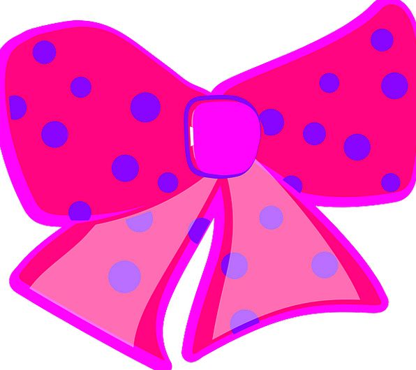 Ribbon Band Flushed Bows Crossbows Pink Dotted Sca