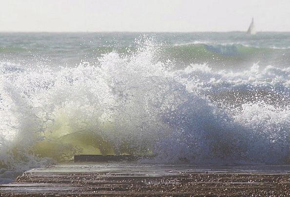 Wave Upsurge Vacation Marine Travel Surf Sea Spray