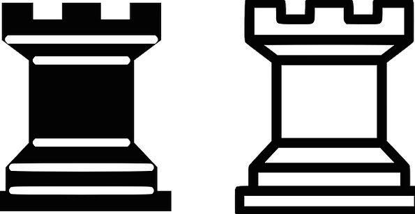 Chess Meeple Rook Tactics Black Dark Tower White G