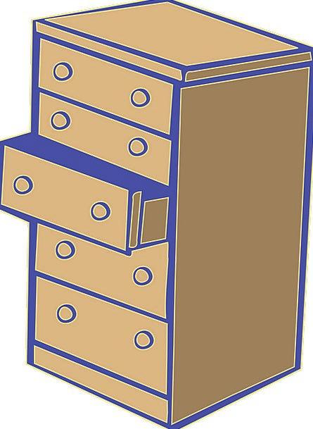 Chest Of Drawers Bureau Dresser Cupboard Commode F