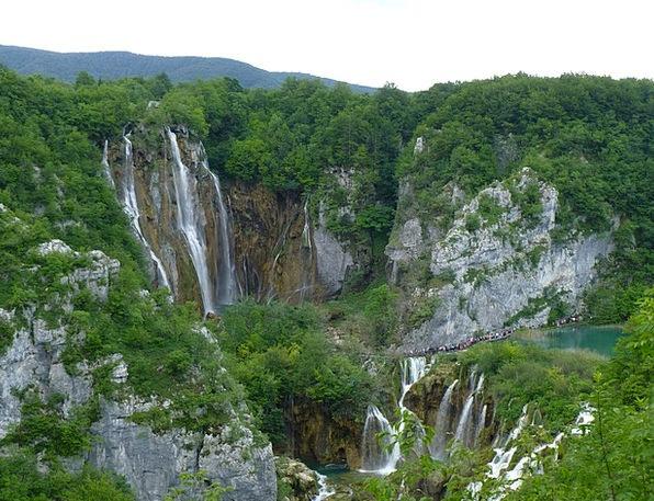 Croatia Landscapes Cascade Nature Nature Countrysi