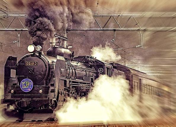 Locomotive Traffic Transportation Ancient Antique
