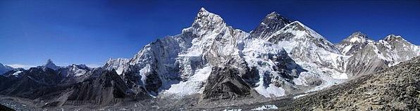 Mount Everest Nuptse Himalayas Mountains Lhotse Tr
