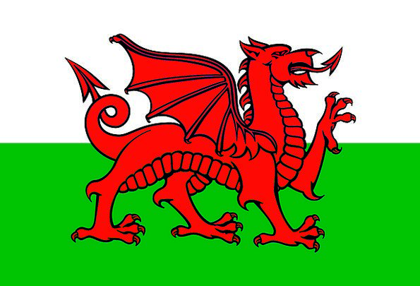 Welsh Flag Slog National Symbol Drag Wales Heraldr