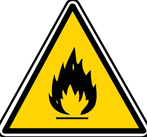 Inflammable Flammable Hazardous Sign Triangle Symb