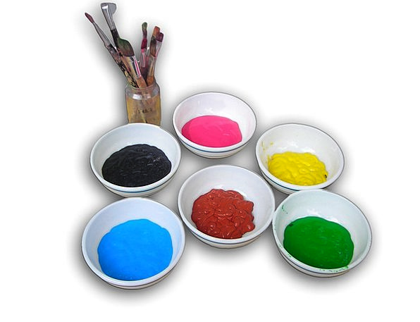 Ink Cups Interesting Color Hue Colorful Brush Enco