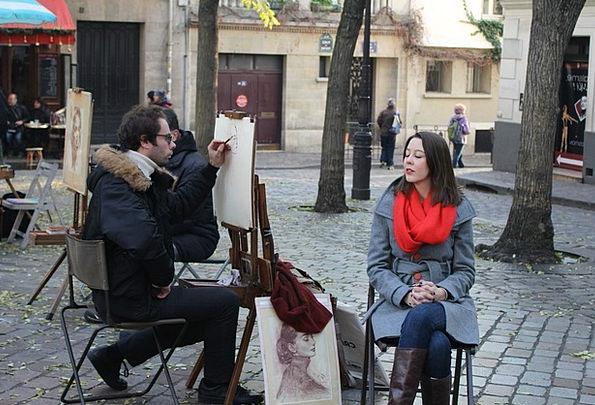 Montmartre Portrait Representation Painter Paris P