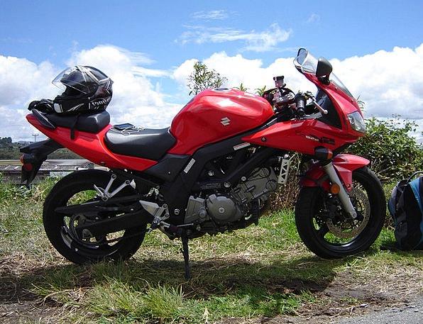 Motorcycle Motorbike Suzuki Sv 650 Red Bike Bloods