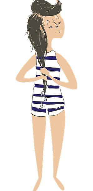 Bathing Suit Swimsuit Lassie Swim Dip Girl Young S