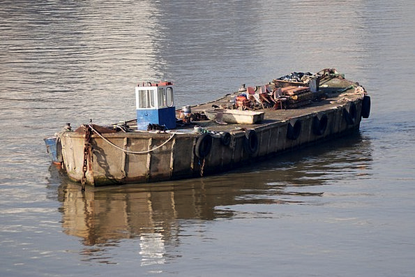 Barge Rush Stream Boat Ship River Old Ancient Rust