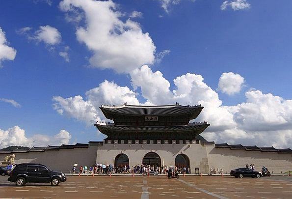 Seoul Sky Blue Gwanghwamun Cbd Forbidden City