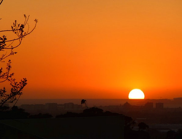 Sunset Sundown Vacation Travel Sonnenkugel Farbens