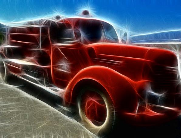 Fire Truck Traffic Creation Transportation Vehicle
