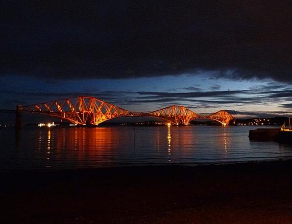 Forth Road Railway Bridge Viaduct Scotland Railway
