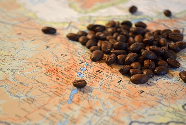 Coffee Chocolate Ethiopia Beans Africa Map Atlas C