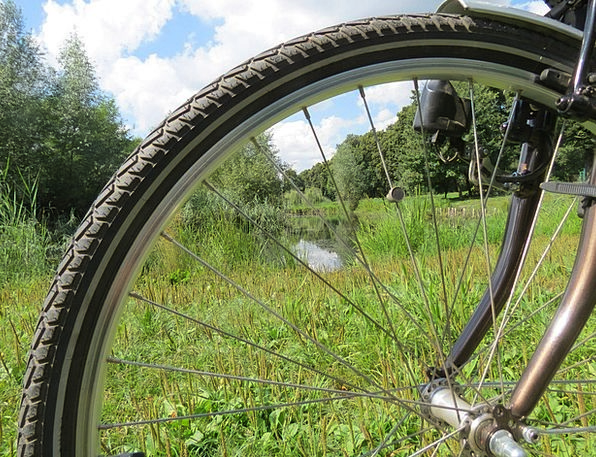 Bike Motorbike Helm Spokes Rods Wheel Nature Sport