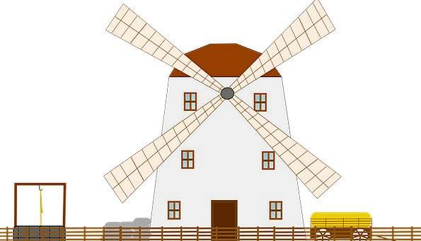 Windmill Vigor Wind Breeze Energy Free Vector Grap
