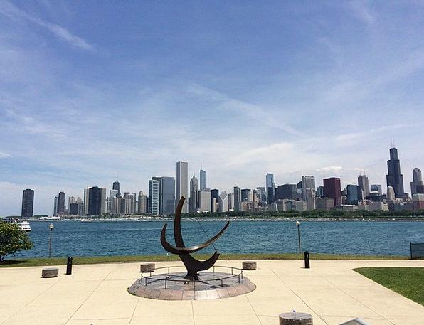 Chicago Buildings Urban Architecture Skyline Horiz