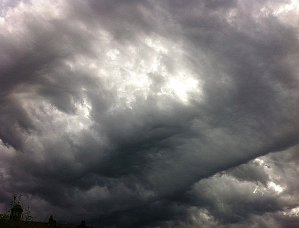Storm Tempest Looming Air Midair Imminent Clouds V