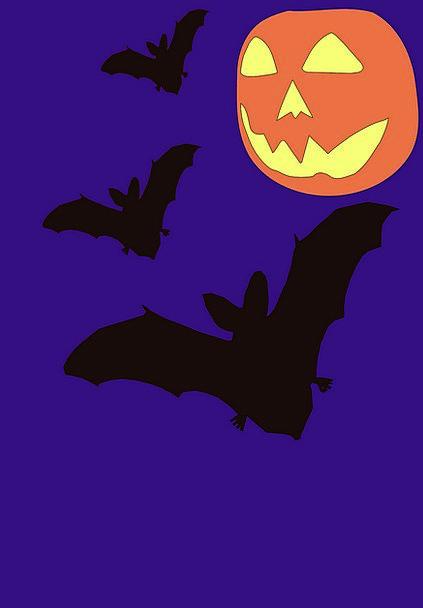 Halloween Rackets Night Nightly Bats Spooky Dark D