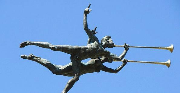 Trumpeter Statue Ornaments Knick-knacks Sculpture