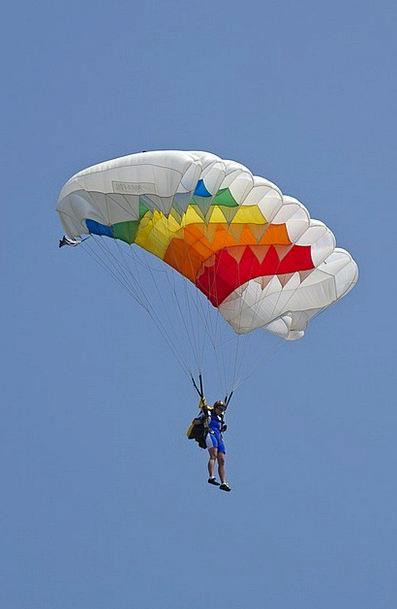 Parachutist Parachute Free-fall Parachute Flies Pi