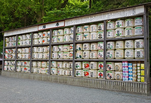 Sake Drink Tubs Food Drink Beverage Barrels Japan