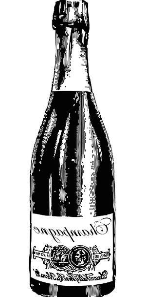 Champagne Drink Flask Food Liquor Bottle Festive A