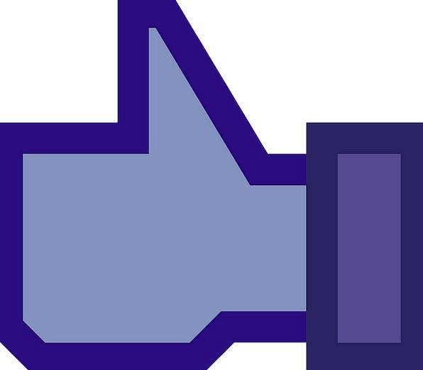 Facebook Azure Button Key Blue Affirmative Like Si