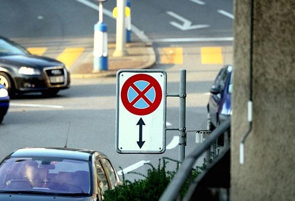 No Parking Traffic Discontinuing Transportation Zu