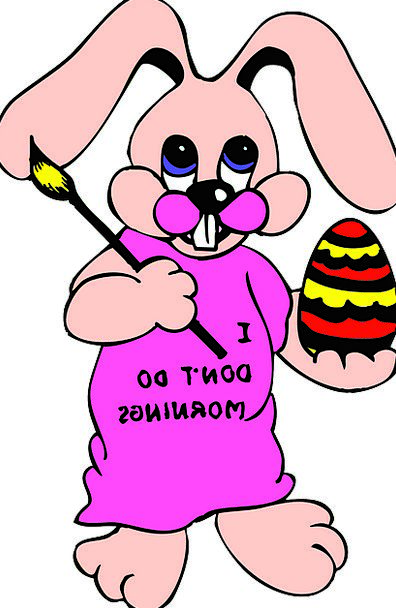 Paint Dye Rabbit Egg Ovum Bunny Shirt Blouse Free