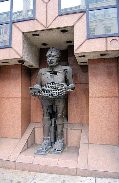 Statue Figurine Eduardo Paolozzi Bronze Sculpture