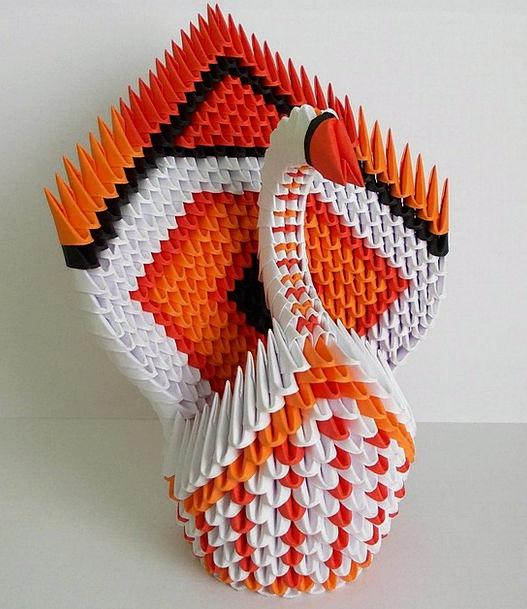Origami Wander Paper Newspaper Swan Folding Portab