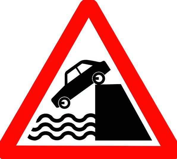 Roadsigns Traffic Transport Transportation Water A