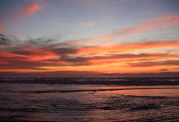 Sunset Sundown Vacation Seashore Travel California