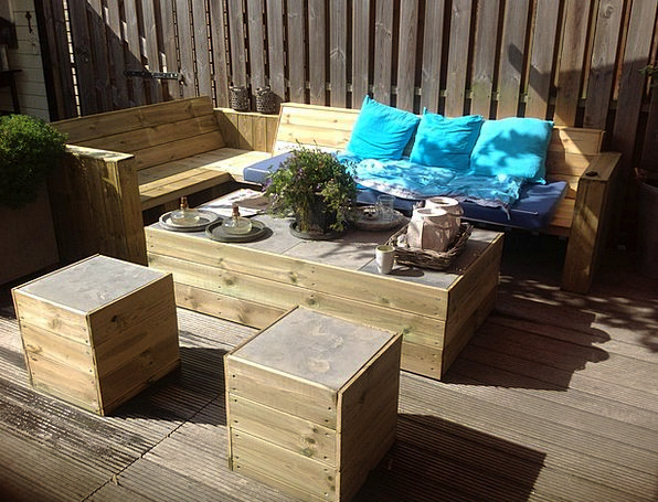 Garden Wood Equipment Garden Plot Furniture