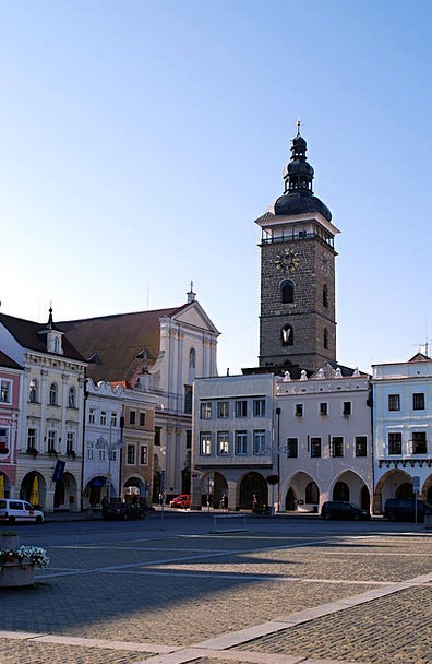 Czech Budejovice Buildings Architecture South Bohe