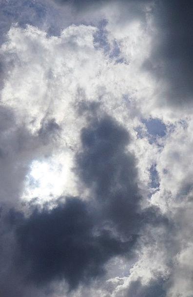 Clouds Vapors Sun Sky Blue Hidden Concealed Storm