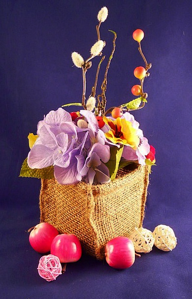 Flowers Bags Blossoms Baskets Brown Fruits Ovaries