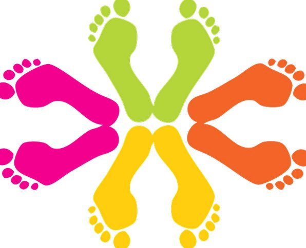 Footprints Paths Footmark Feet Bases Footprint Hum