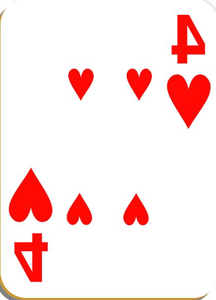 Playing Card Hearts Emotions Four Gambling Game Wi