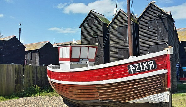 Hastings Seaside Resort East Sussex Dry Fishing Vi