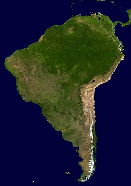 South America, Landm, Land, Terrestrial, Continent, Map, Chart ... on