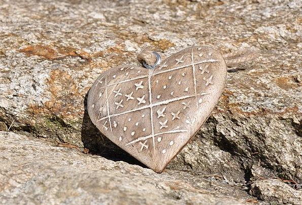 Heart Emotion Landscapes Timber Nature Stone Pebbl